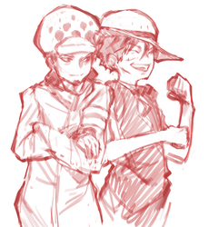 Luffy And Law by afroad