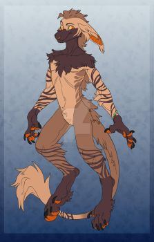 Anthro Vernid adopt [Closed] by KarmaGeLight