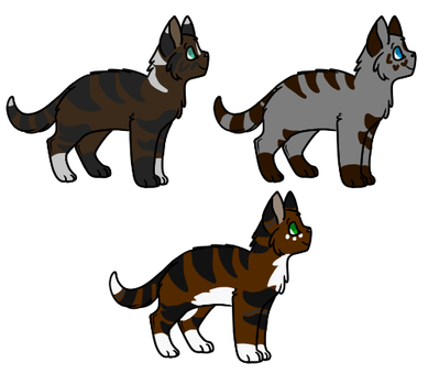 Bred Kits Adoptables - 2/3 -Open- by FreeWingedWulf