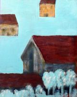 The Houses In Blue Sky by segroeg