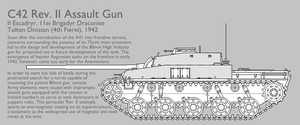 C42 Rev. II Assault Gun [Graphic|Uncoloured] by SixthCircle