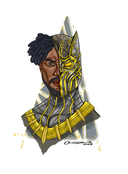Black Panther Micheal B Jordan Portrait by ChaosShannon