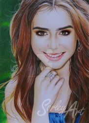 Lily Collins by Sarley-Art