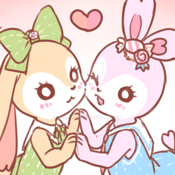 Bunny x2 by loli-drop