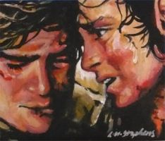 Frodo and Sam ACEO by sullen-skrewt