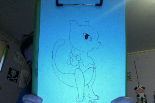 ~ Chibi Mewtwo ~ by Ducky-the-Wolf