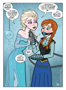Anna Tries the Cuffs by Yes-I-DiD