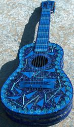 BlueGlass Guitar by Sarajane-Helm