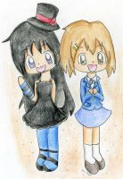 Mio and Yui by Mushroom-Cookie