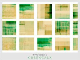 textures: green calx by 77words