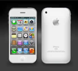 White iPhone 3GS by GlasKoenig201