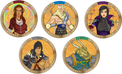 One Shot Group PC Tokens by AZ-RUNE