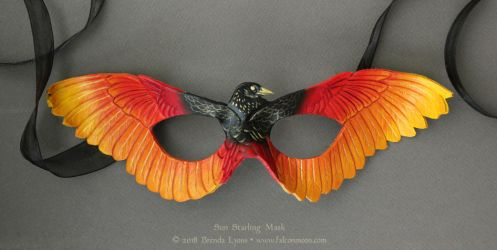 Sun Starling Leather Mask by windfalcon
