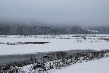Winter Lake 2 by prints-of-stock