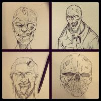 Zombie Sketches by SketchMonster1