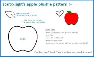 apple plushie pattern by starxxlight