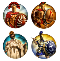 Civilization 5 Icons: Sparta and Athens by JanBoruta
