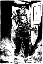 Punisher commission inked by MarcLaming