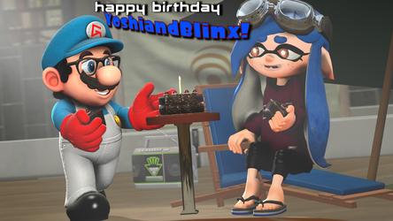 Happy Birthday, YoshiandBlinx! [Splatoon SFM] by Geoffman275