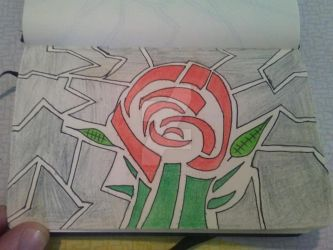 Puzzle shape rose by thisthatagain