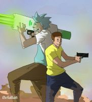 Rick and Morty  by the1allan