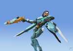 Clearing the area! - Pharah Raptorion by Cordylus