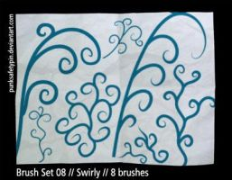 Brush Set 08 - Swirly by punksafetypin
