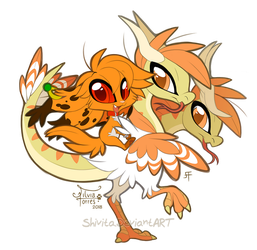 Chibi Orange and Siegfried by Shivita