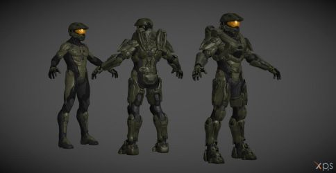 Halo 5 MasterChief (Good Visor) XPS Model V1.1 by navie9888ch