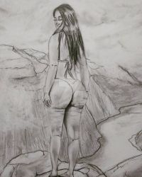 Booty and huge mountains by Magnusgramm