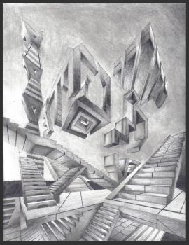 Abstract Perspective Drawing by Drawer888