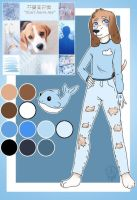 Moodboard-Blue shy male beagle  by Pinkwolfly