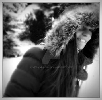 My beautiful cousin Natalia and first snow II by VesnaRa-14