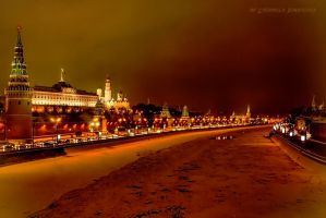 frozen night MoscowRiver by Lyutik966