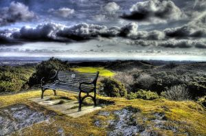 Lonely bench HDR by MartynBerdyga