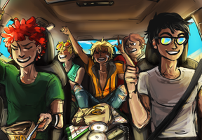 roadtrippin' by xShieru