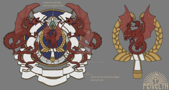 Imperial greater and lesser Coat of Arms by Feivelyn