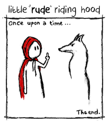little rude riding hood by stockpremader