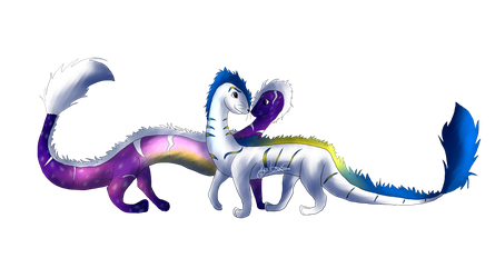 Andromeda and Milkyway - Contest Prize by GalaxyMelody