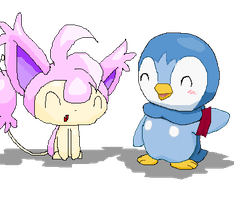Skitty Piplup Collab :3 by Torosiken