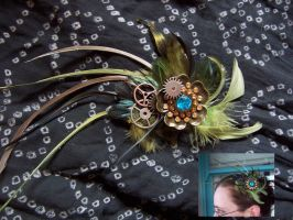 Steampunk Fascinator by pennyfarthing1893
