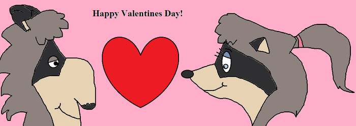 Raccoons Valentine by TheNoblePirate