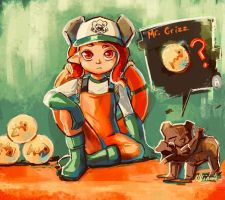 Grizzco Octoling by Lubrian