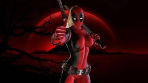 Lady Deadpool Red by Curtdawg53