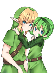 Link and Saria by Neiziel