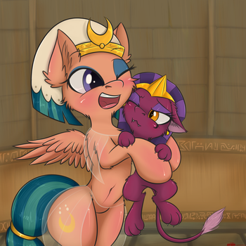 Somnambula with Little Sphinx by orang111