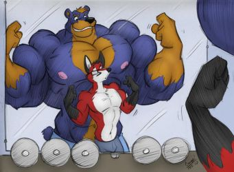 - Max + Kyle at the Gym 2010 - by notveryathletic