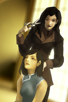 korra and asami by soudesu