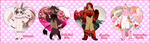 HumBuns: Valentine's Day Adopts! ( 3/4 OPEN ) by RezFrosting
