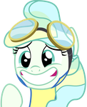 Vapor Trail embarassed smile by CloudySkie